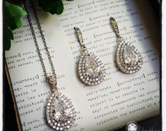 Bridal Jewelry Set, Wedding Jewelry Set, Mother of the Bride/Groom, Wedding Party Jewelry, Teardrop Jewelry Set
