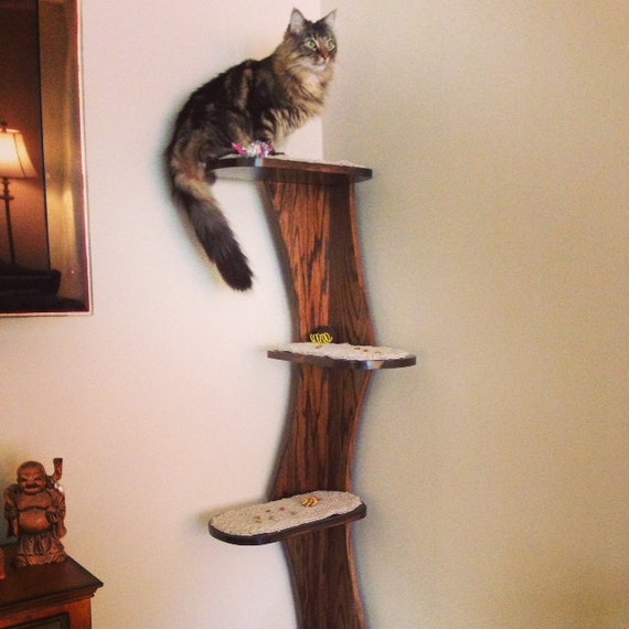 Cat Tower Corner Climbing Cat Tree 68 Real Oak By Theculturedcat