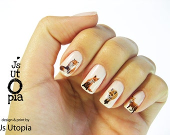 Fox Nail Sticker