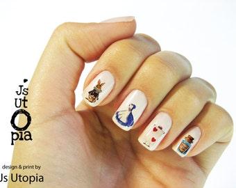 Alice In The Wonderland Nail Sticker