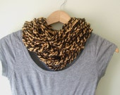 Black Gold Scarf Necklace...