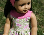 """Beautiful Pink and Green Two Toned Dress for 18"""" Dolls **SALE**"""