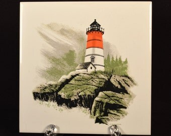 Nautical Trivet Lighthouse Wall Hanging Tile Ceramic