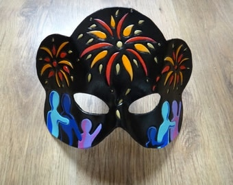 SALE! New Year Firework leather mask