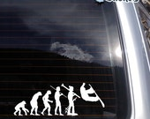 Evolution of Snowboarding no.1 Vinyl Decal - fits laptop, snowboard, skis, car window and more K028