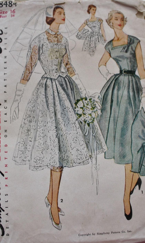 Dress and jacket wedding bridal sewing pattern gown for Sewing patterns wedding dress
