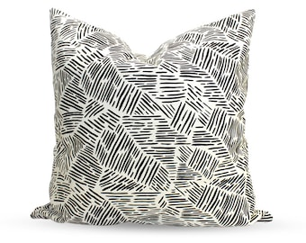 Continental Lines Pattern 23.6 x 23.6 inch Pillow Cover
