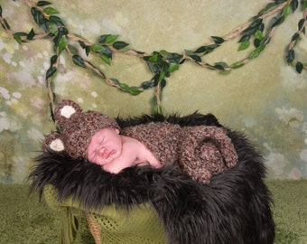 Cuddly Monkey Photography Prop Set - Newborn