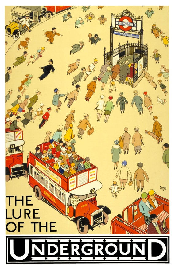 LONDON UNDERGROUND Digitally Remastered Vintage Fine Art Poster / Print Home Decor TUBE Subway Railway