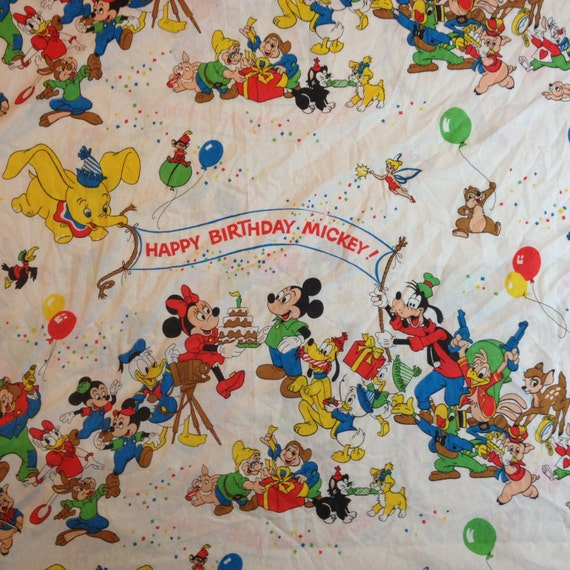 Obscure Disney Characters Bed Sheet Full Flat Happy By