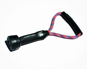 Dog Toys - Upcycled Cow Milking Tube Rubber Tug Toy - Patriotic Flag Original Size