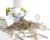 DIY Kit Starfish Place Card Holders (4) & Starfish Table Number Holder (1) - Ready-to-Go