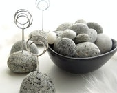 6 Maine Granite Tidal Beach Stone Seaside Table Seating Markers for Guests