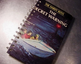 HARDY BOYS Journal Notebook The Secret WARNING Altered Book