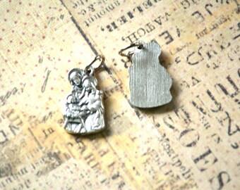 Holy Family Medal - Nativity Charm - Holy Family Charm - Catholic Medal - Italian