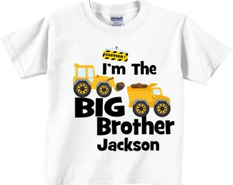 I'm The Big Brother Construction Shirts and Tshirts Tees