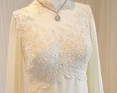 William Cahill Victorian High Neck Empire Waist Style Wedding Dress