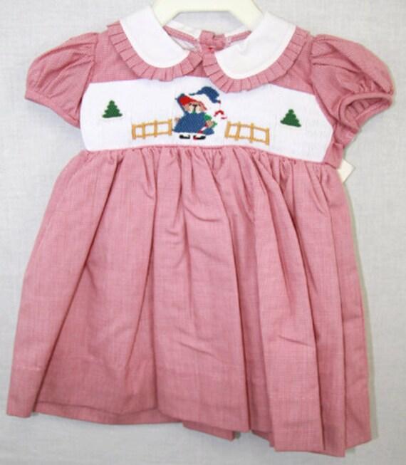 Items similar to 412051 a038 christmas dress smocked dresses baby