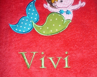 Personalized and appliqued beach towel
