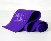 """100% Merino Wool Felt Roll - Wool Felt Roll - 5"""" x 36"""" Felt Roll - Wool Felt Color Eggplant -3110 - Wool Felt - Dark Purple Wool Felt - Felt"""