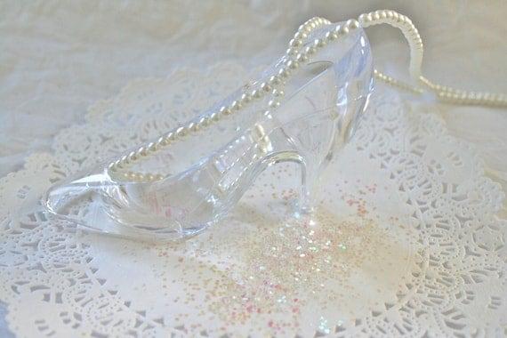 Faux Glass Slipper Princess Party Cake Topper Fillable