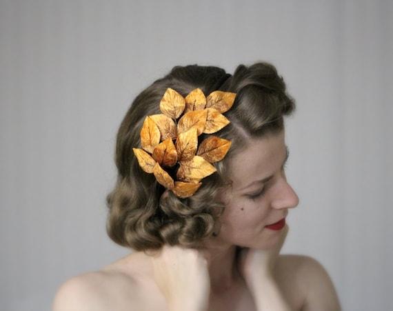 Fall Headband Leaf Hair Accessory Orange Leaves Headpiece