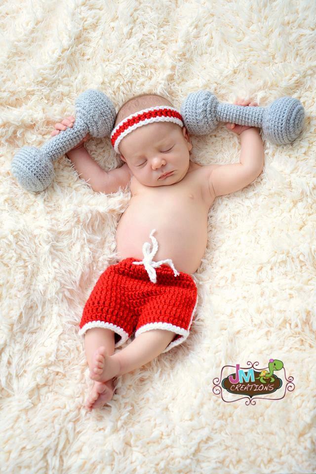 Dumbbell Set Weightlifter One Crochet