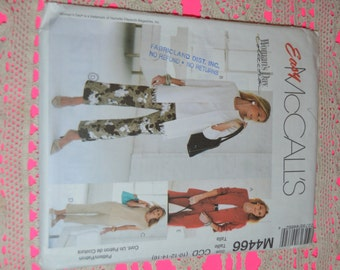 McCalls M4466 Misses Cardigan Top and Pants in two Lengths Sewing Pattern - UNCUT - Size 10 12 14 16