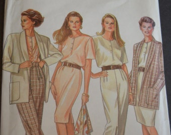 New Look 6105 Womens Jacket Top Dress and Pants Sewing Pattern - UNCUT - Sizes 8 - 18
