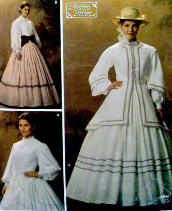 simplicity 4900 costume pattern mid 19th century two piece