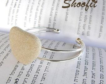 Bracelet, stone bracelet, beach stone bracelet, custom bracelet, personalized bracelet, name bracelet,Arabic bracelet, Hebrew name bracelet,