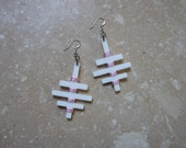 Unique Triple-Cross Acrylic Earrings (Tons of Colors Available)