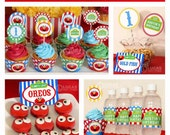 Elmo Sesame Street Inspired Birthday Party - DIY PRINTABLE Personalized Package FULL Collection - H2a