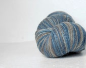 100% artistic WOOL - blue grey beige - one skein 10 oz/ 274g