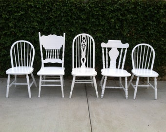 Popular items for farmhouse chairs on etsy for Kitchen set los angeles