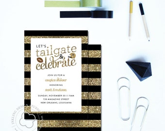 Tailgate Party Invitation // Who Dat // New Orleans Saints
