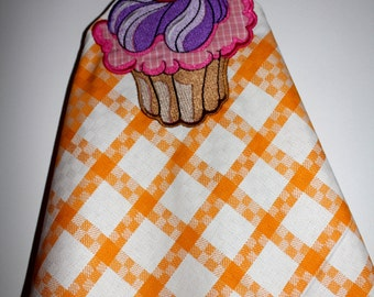 Tea towel, kitchen towel with a motif