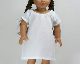 Historical 1700 to 1860 Chemise for 18 inch Dolls.
