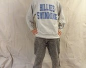 Awesome Vintage 88-92 Co-ed Naked Swimming Sweater// Billies Swimming // Williamsville South