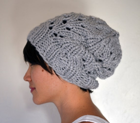 Knitting PATTERN PDF Chunky Knit Slouchy Beanie Toque Fall