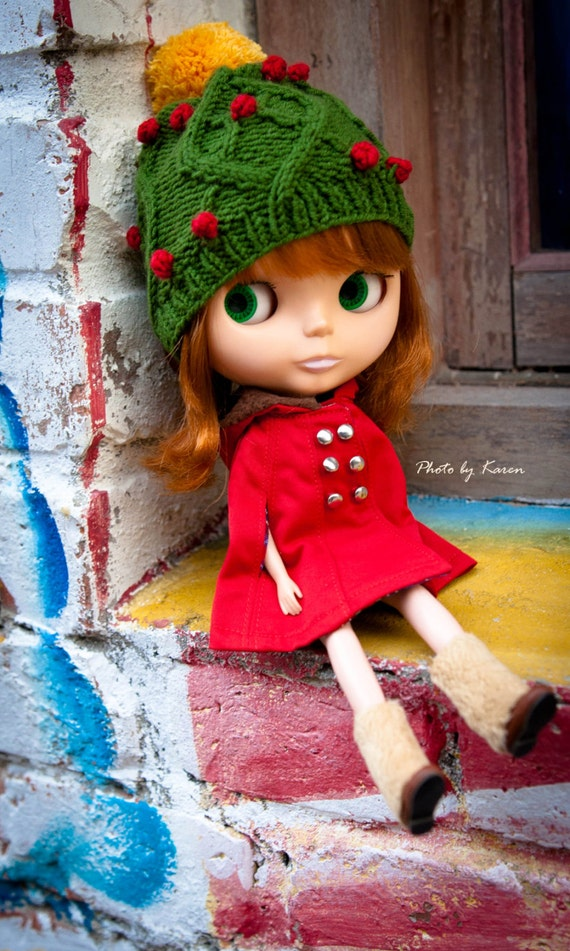 Christmas Holiday Hat for Blythe