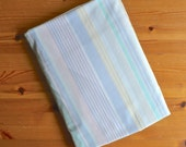 Vintage Pastel Striped Sheet, Queen Fitted Sheet