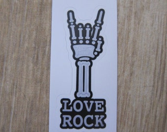 Love Rock Sticker, 100% Waterproof Vinyl Sticker, Pop Culture Sticker, 3M Sticker