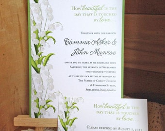 20 Lilies of the Valley Wedding Invitations