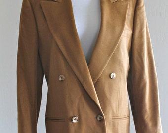 SALE 10% OFF: 1970's Burberrys Blazer in Pure Loro Piana Cashmere