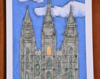 SLC temple giclee print on 8.5x11 inch enhanced matte paper.