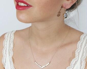 chevron necklace gold geometric necklace chevron pendant necklace everyday minimalist v chevron jewelry necklace geometric pendant 10010
