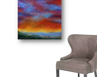 Runner Art SALE Christian Art Original Painting abstract art sunrise large painting acrylic jogger painting Chattanooga artbyevelynmarie