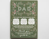 Christmas Pregnancy Reveal Christmas Card for Dad // You're Going To Be A Grandpa!