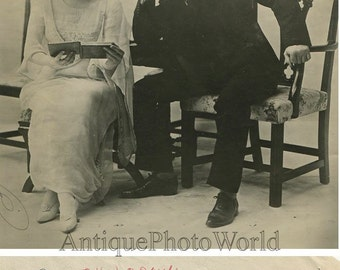 Actors Mary Boland and John Drew antique photo